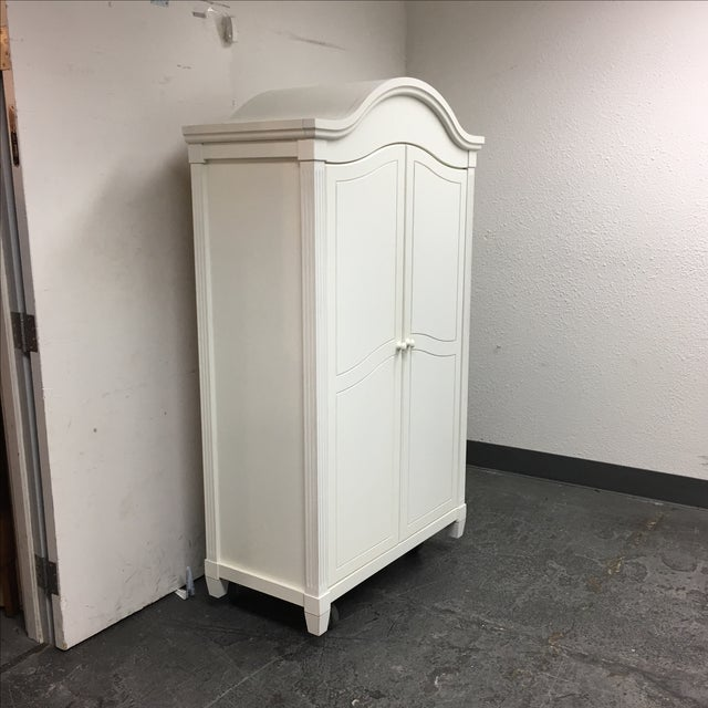 Image of White Cottage Style Armoire