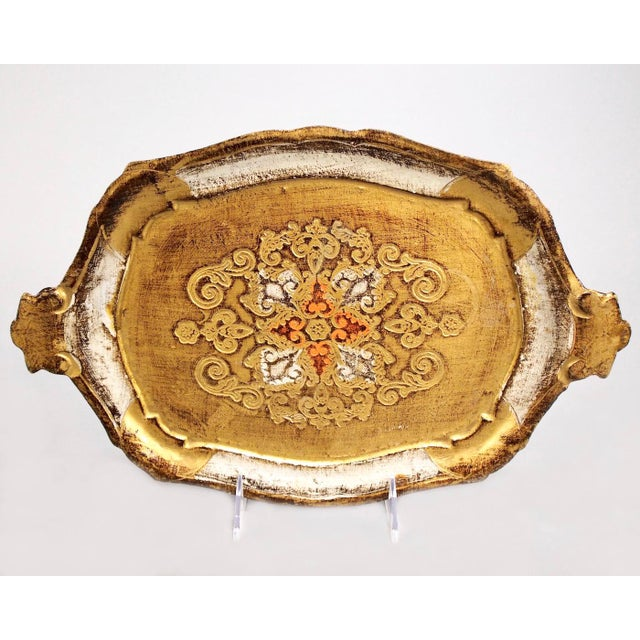 Italian Hand-Painted & Gilded Florentine Tray - Image 2 of 6