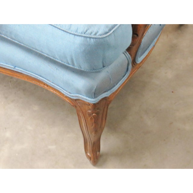 Louis XVI Style Upholstered Bergeres - Image 2 of 5