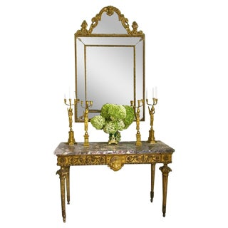 Massive 18th Century Italian Giltwood Console Table