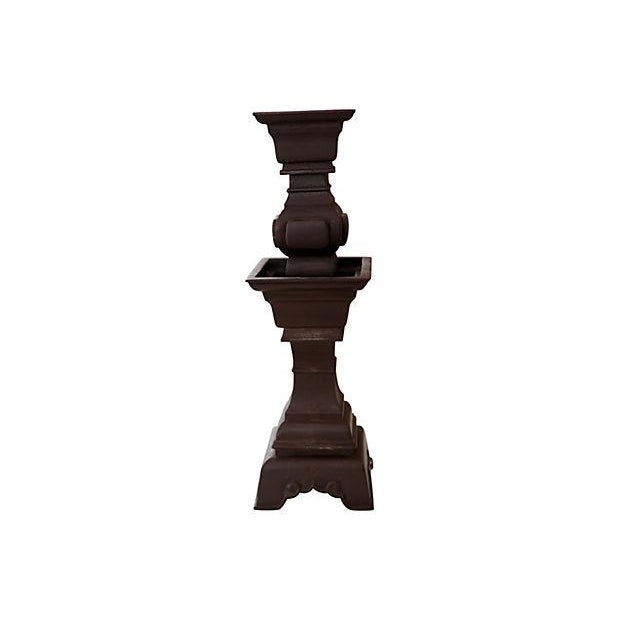 Asian Iron Candle Holder - Image 2 of 2