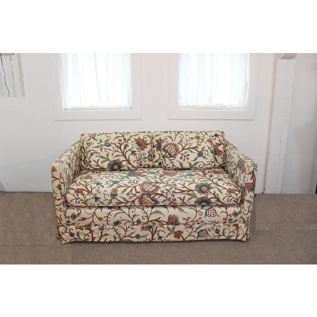 Mid-Century Modern Floral Sofa Settee - Image 2 of 10
