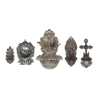 Collection of Antique Holy Water Fonts