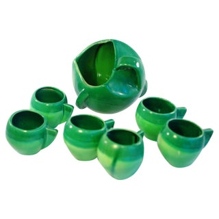 11 Piece Atomic Green Studio Art Pottery