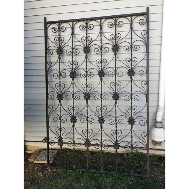 Antique Wrought Iron Decorative Wall Divider - Image 3 of 8