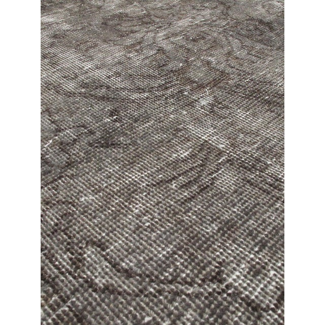 """Vintage Turkish Gray Over-Dyed Rug - 10' X 13'5"""" - Image 2 of 2"""