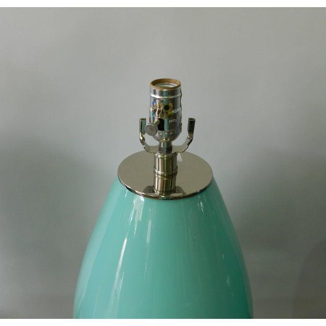 Seafoam Glass Table Lamp - Image 4 of 4
