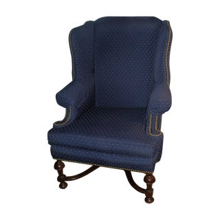 William and Mary Style Wing Back Chair