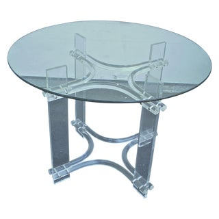 Lucite and Glass Top Dining Table