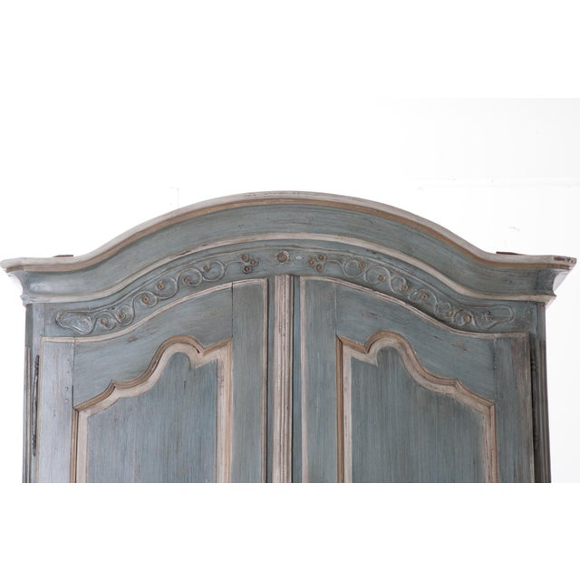 French Early 19th Century Painted Cherry Armoire - Image 4 of 10