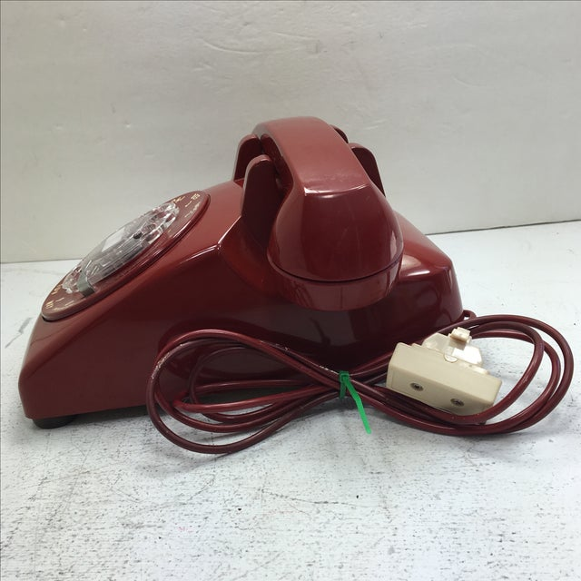 Western Electric Red Rotary Dial Telephone - Image 3 of 11