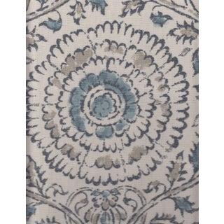 Kravet Kamala Linen Print in Mist Blue & Ivory - 7.625 Yards