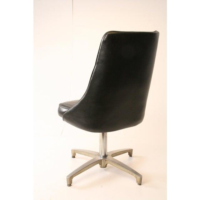 Chromcraft Mid-Century Black Swivel Dining Chair - Image 9 of 11