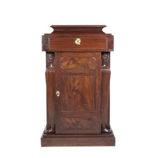 English Mahogany Pedestal Cupboards - A Pair
