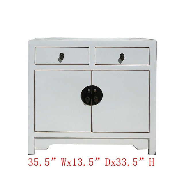 Image of Slim & Narrow White Side Table/Console/Cabinet