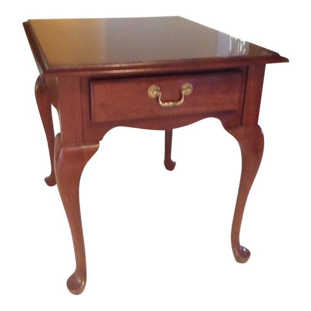 Ethan Allen Henry Coffee Table With Drawers: Georgian Court End Table