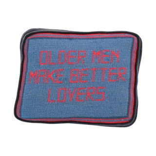 Older Men Make Better Lovers Needlepoint Pillow