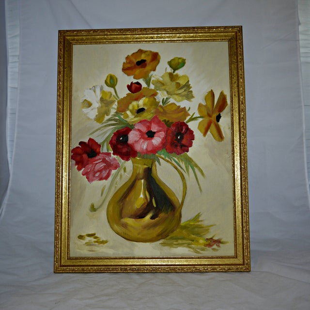 Original Floral Still Life Painting on Canvas - Image 2 of 7