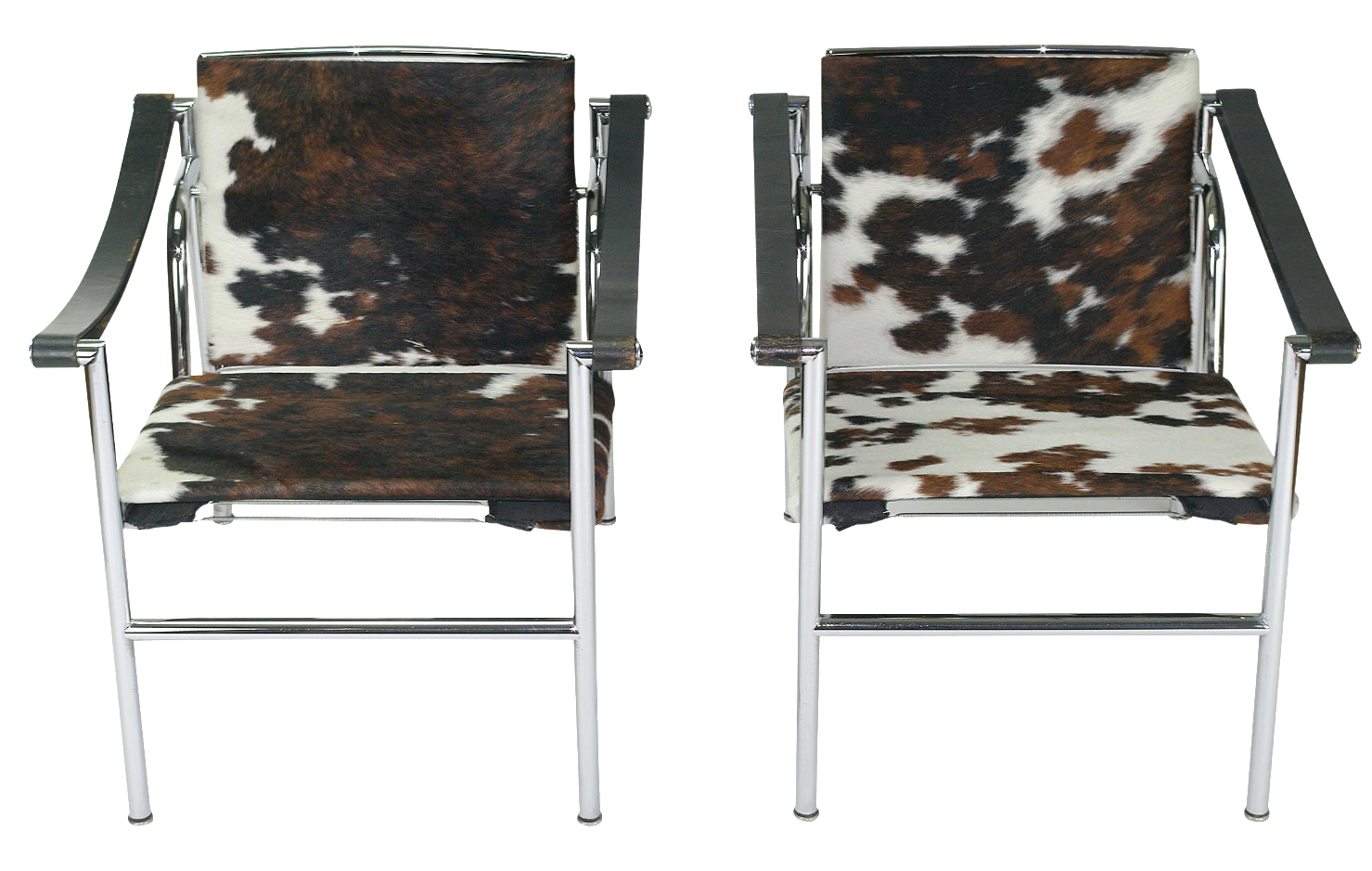 le corbusier lc1 chairs by cassina a pair image 1 of 8