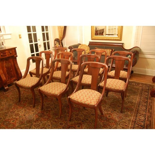 Baker Empire Style Mahogany Dining Room Chairs
