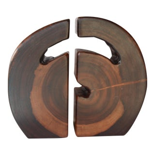 Free Form Wood Bookends - A Pair