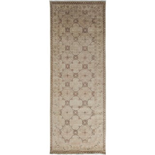"""New Oushak Hand-Knotted Rug - 3'10"""" x 10'"""