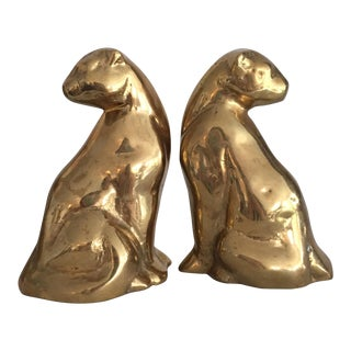 Brass Felines - Pair