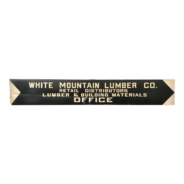 Vintage Hand Painted Lumber Yard Sign - Image 1 of 4