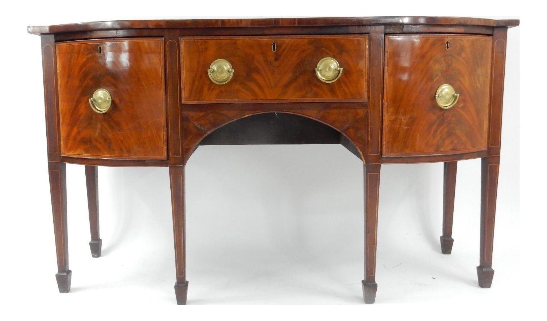 Southern Federal Period Inlaid Mahogany Sideboard