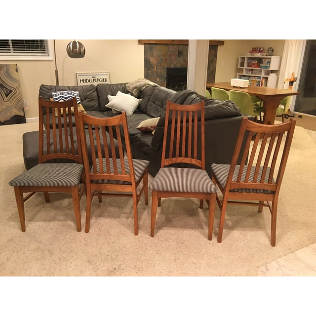 Mid-Century Modern High Back Dining Chairs - Set of 4 - Image 3 of 10