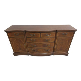 Drexel Heritage Flame Mahogany Inlaid Banded Sideboard