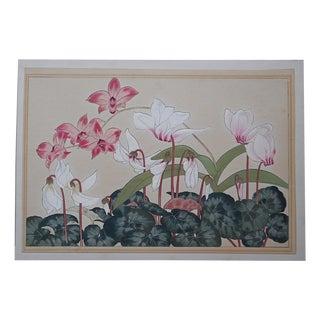 Vintage Japanese Botanical Woodblock Print