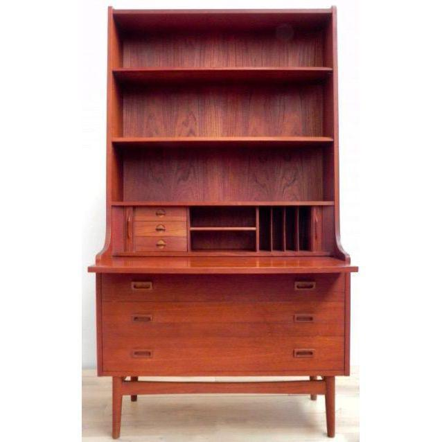 Danish Modern Secretary Bookcase - Image 4 of 6