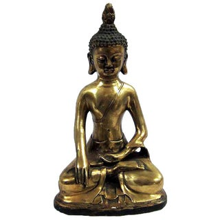 Brass Sitting Buddha Figure