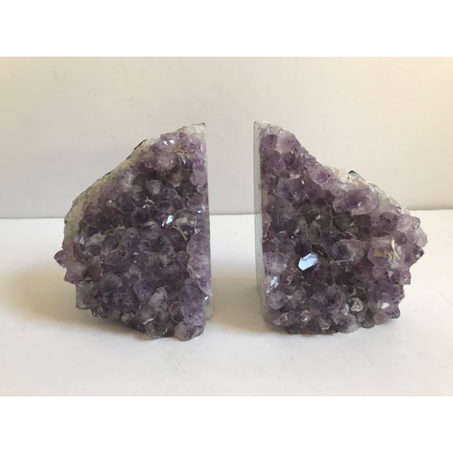 Large Geode Amethyst Bookends - a Pair - Image 5 of 6