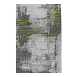 Abstract Art Green Rug - 2'8''x 10'