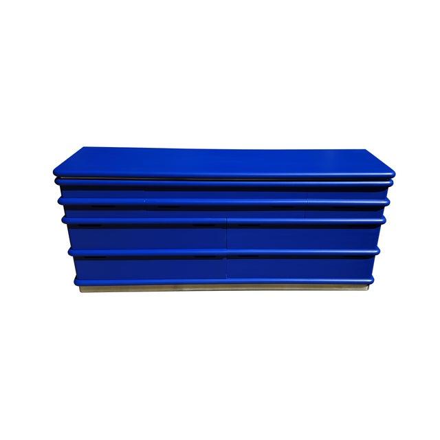 Mid-Century Modern Art Deco Blue Klein Jay Spectre Dresser - Image 3 of 6