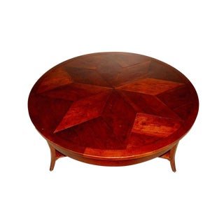 Custom Made Niermann Weeks Parquet Round Coffee Table by Joe Niermann