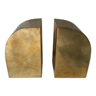 Vintage Brass Bookends - A Pair