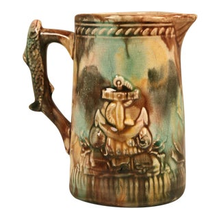 Antique English, Majolica Petite Pitcher