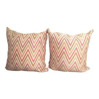 Missoni Pink 21 X 21 Pillows - Pair