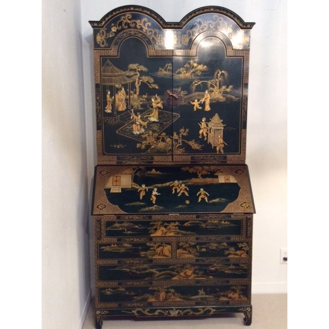 Vintage Chinoiserie Chippendale Secretary - Image 2 of 11
