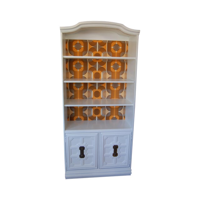Painted Mid Century Shelving Unit - Image 1 of 8