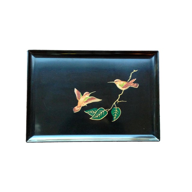 Image of Large Couroc Hummingbird Tray