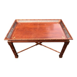 Mario Buatta for John Widdicomb Faux Bamboo Coffee table