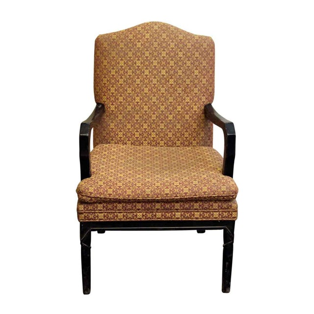 Arm chair with decorative patterned upholstery chairish