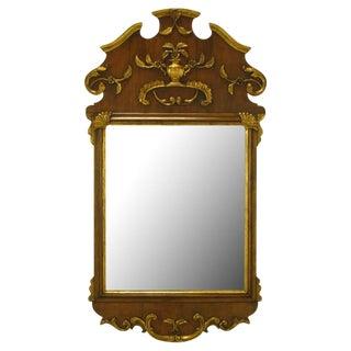 "58"" Carved Walnut Parcel Gilt Italianate Mirror."