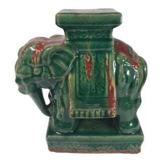 Vintage Elephant Stool Plant Stand