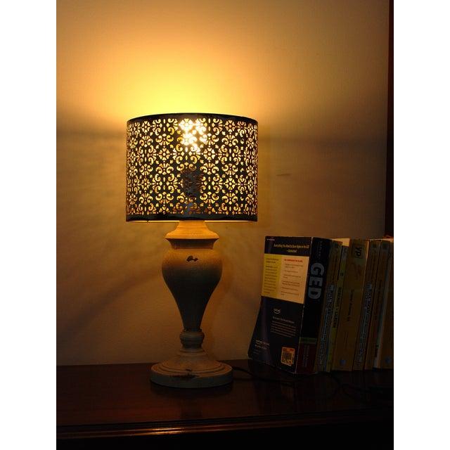 Cream Metal Nostalgia Lamp - Image 2 of 5