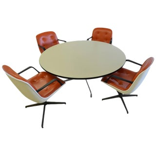 Herman Miller Dining Table with 4 Steelcase Chairs - S/5